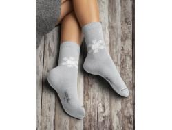 Chaussettes Flocon de neige - Gris