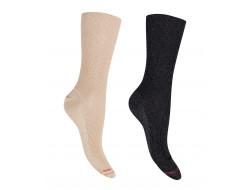 Chaussettes scintillantes non comprimante - Coton