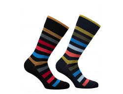 Chaussettes rayures - Laine