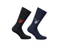 Chaussettes coton - Tête de cerf