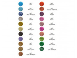Perles de rocaille 21 couleurs