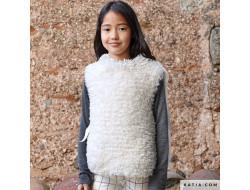 Modèle pull sans manches enfant MIXTE - Polar