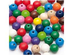 Perles en bois multicouleur 8 mm - Rico Design