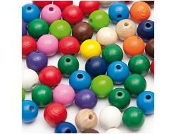 Perles en bois multicouleur 6 mm - Rico Design