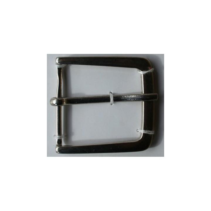 Boucle de ceinture métal argent 35 mm