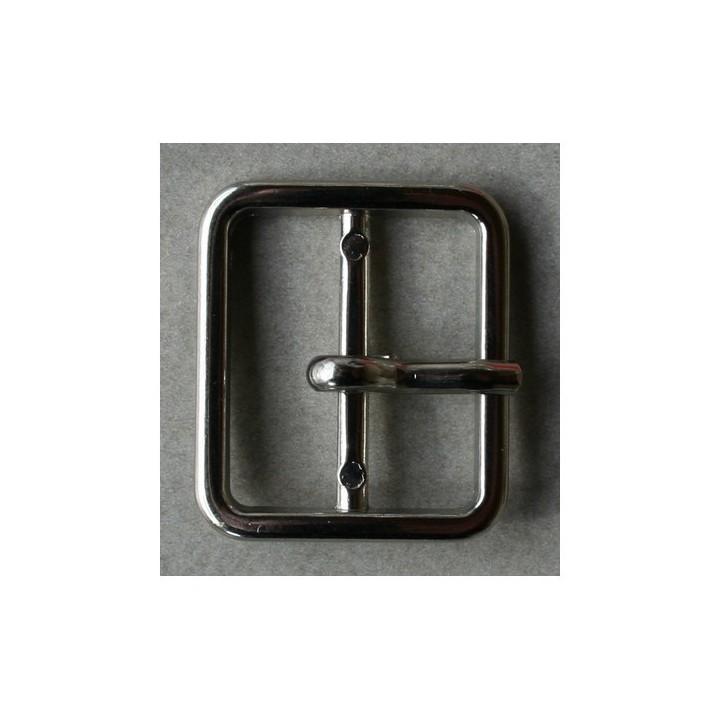 Boucle de ceinture métal argent 21 mm