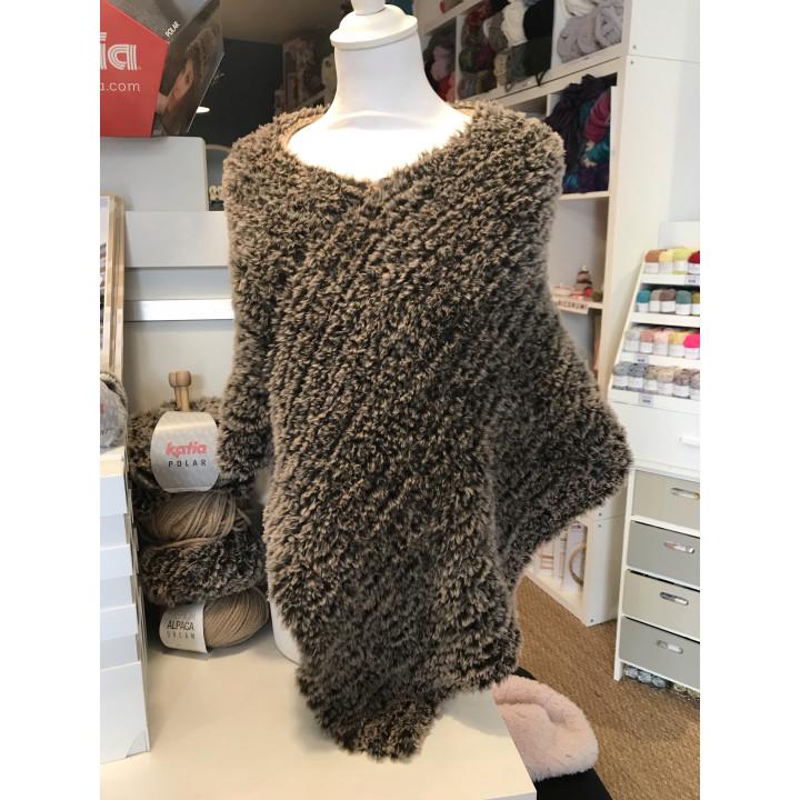 Poncho 2 fils - Polar & Fashion alpaca dream