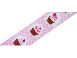 Ruban cupcakes rose laitonné