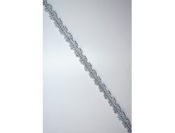 Galon élastique vichy gris