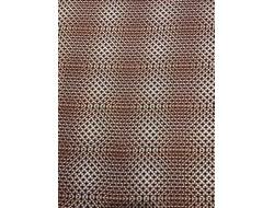 Tissu viscose brun formes géométrique