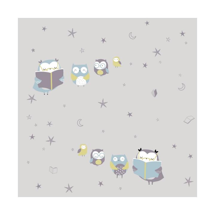 Tissu jersey Reading Owls - Katia Fabrics
