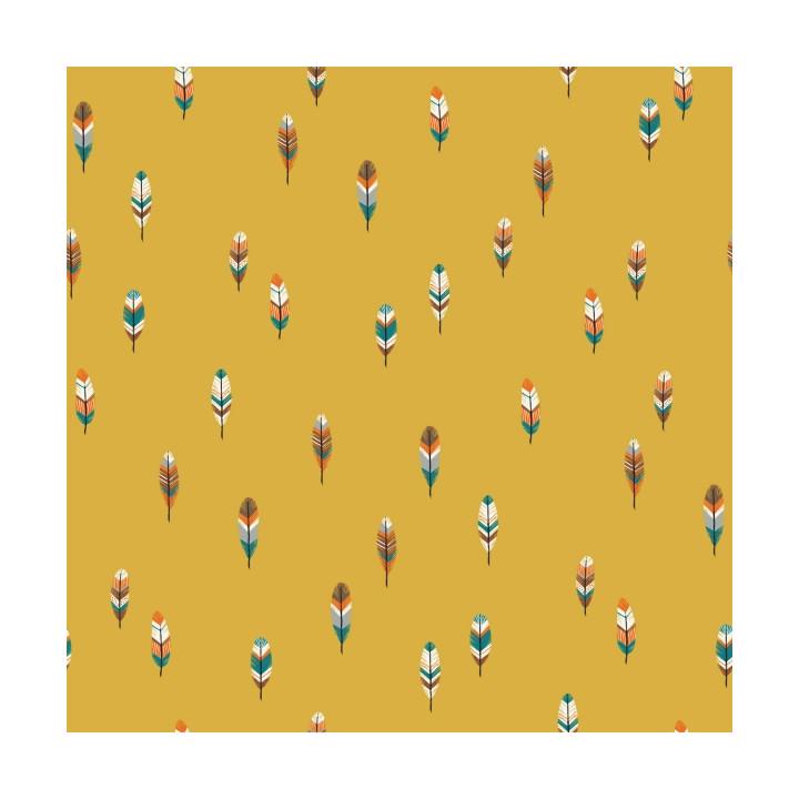 Tissu popeline de coton Fox Feathers - Katia Fabrics