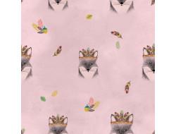 Tissu imperméable Main Fox Pink - Katia Fabrics