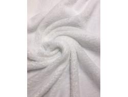 Tissu Minkee blanc