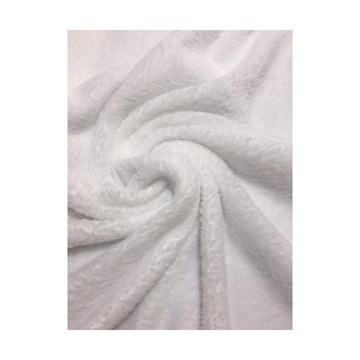 Tissu Minkee doux blanc