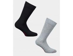 Chaussettes cachemire - Uni gris