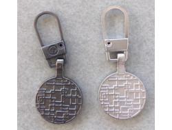 Tirette fantaisie métal pour fermeture à glissière