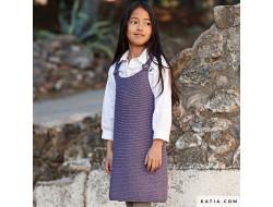 Robe chasuble enfant merino aran - Katia