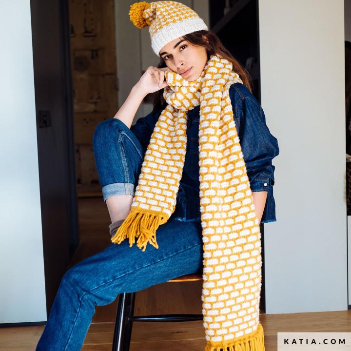Ensemble bonnet et écharpe Maxi Merino - Katia