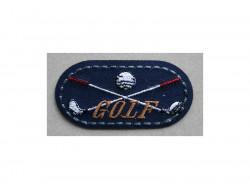 Écusson thermocollant Golf, marine