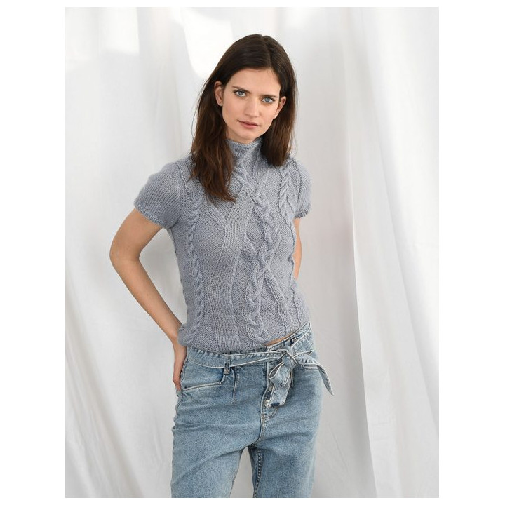 T-shirt à torsades fantaisies en mélodie - Plassard
