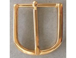 Boucle de ceinture métal doré 30 mm
