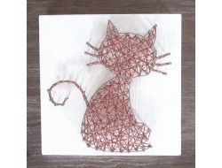 Kit stringart Chat cuivré