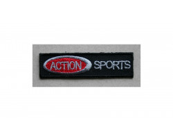 Ecusson thermocollant Action sport, noir