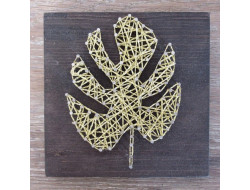 Kit stringart feuille monstera