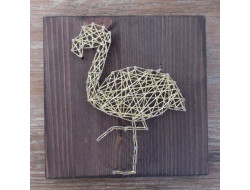 Kit stringart flamant rose