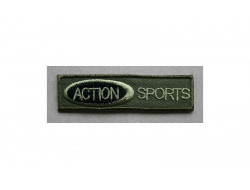 Ecusson thermocollant Action sport, kaki