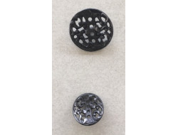 Bouton métal filigrane 16 et 23 mm