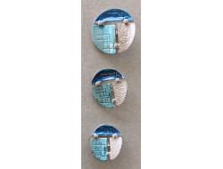 bouton métal bleu