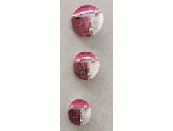 bouton métal rouge