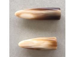 Bouton buchette corne beige