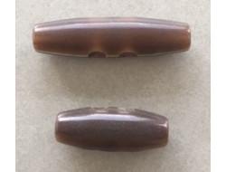 bouton brandebourg marron