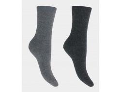 Chaussettes Effets de mailles soie et Laine