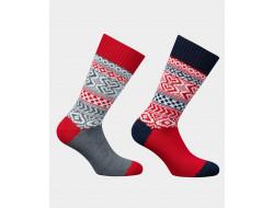 Chaussettes grosses mailles - motifs Norvégiens