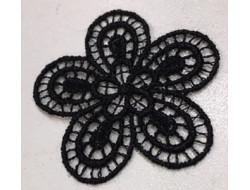 écusson fleur noir