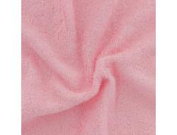 Tissu éponge bambou bio rose