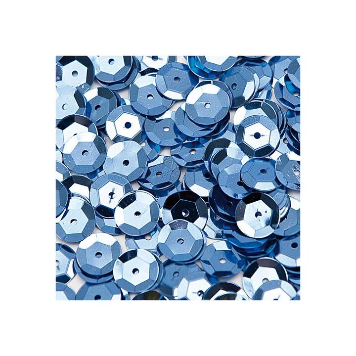 Paillettes, sequins Aqua, 10 mm