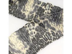 plissé léopard