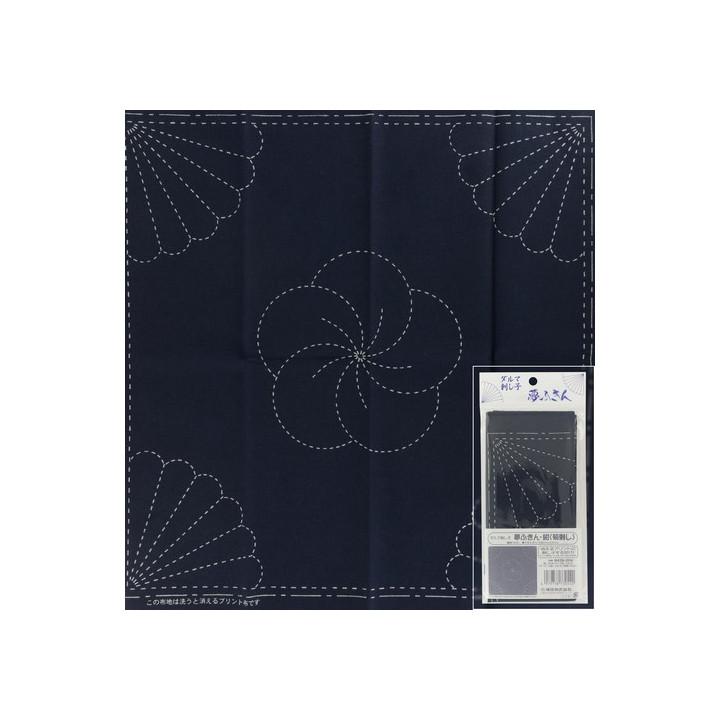 Coupon tissu à Sashiko navy -