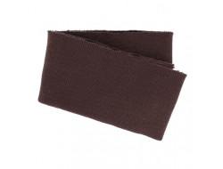 Bas de blouson bords côte Marron spécial blouson cuir