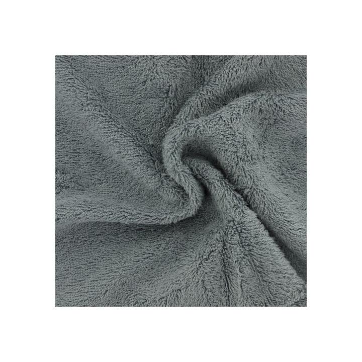 Tissu éponge bambou bio gris