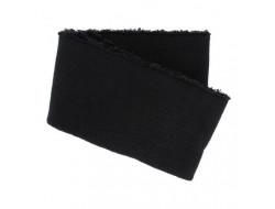 Bas de blouson bords côte Noir spécial blouson cuir