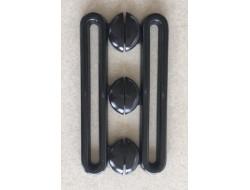 Boucle ceinture bord à bord plastique noire
