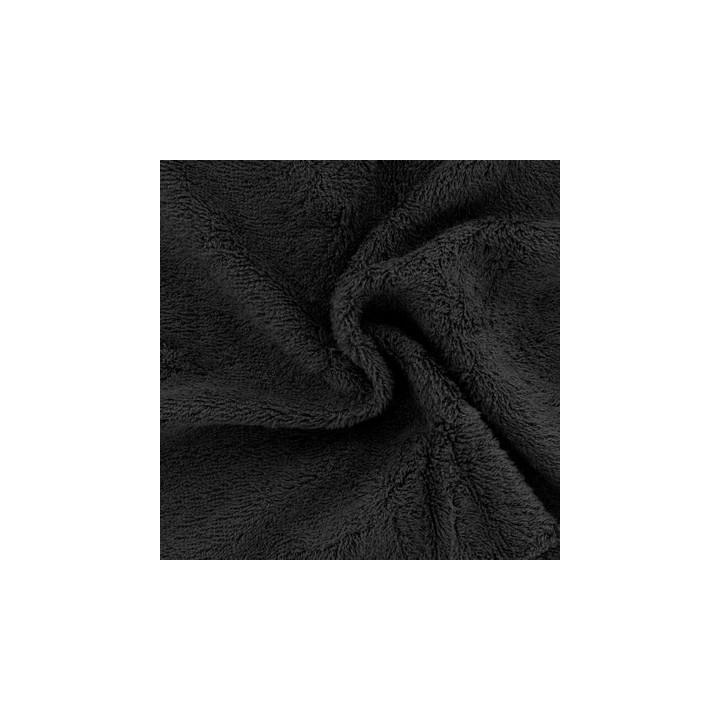 Tissu éponge bambou bio noir