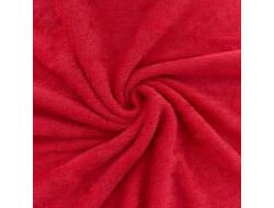 Tissu éponge bambou bio rouge coquelicot