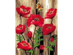 Canevas 50 x 65 cm - Coquelicot